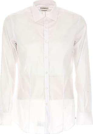Camisa de Hombre Baratos en Rebajas, Blanco, Algodon, 2017, 38 43 Del Siena