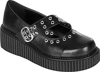 Demonia Creeper-202 - Gothic Punk Industrial Creeper Schuhe 36-42, Größe:EU-40/41 / US-10 / UK-7