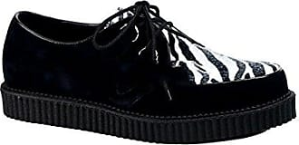 Demonia Creeper-602 - Gothic Punk Industrial Creeper Schuhe 36-46, US-Herren:EU-36 (US-M4)