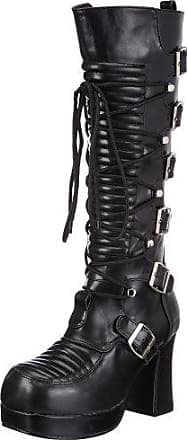 Demonia CONCORD-108 Damen Stiefel, Schwarz (Blk Vegan Leather), EU 37 (UK 4) (US 7)