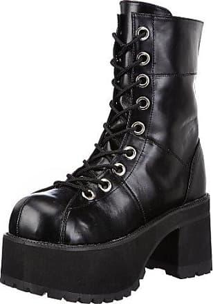 Demonia DEFIANT-100 - Zapatos Botín para Hombre, Color Negro (blk Pat), Talla 36 EU (3 UK)