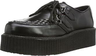 Demonia Stomp-08 - Zapatos Planos con Cordones Mujer, Color Negro, Talla 40 Demonia