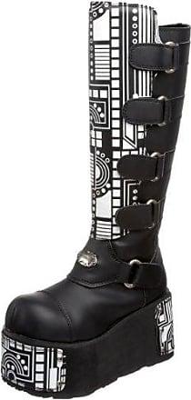 Demonia Mega-618 - Gothic Plateau Stiefel Schuhe 36-45, US-Herren:EU-41/42 (US-M9)