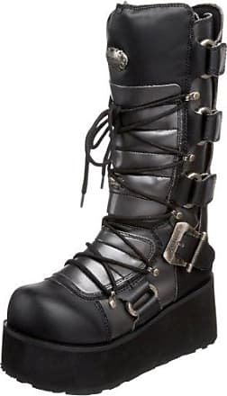 Demonia Trashville-519 - Gothic Punk Industrial Plateau Stiefel Schuhe 36-46, US-Herren:EU-39 (US-M7)