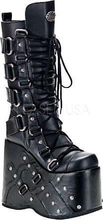Demonia Camel-311 - Gothic Punk Industrial Plateau Stiefel Schuhe 36-43, Größe:EU-41/42 / US-11 / UK-8