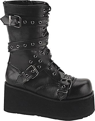 Demonia Trashville-518 - Gothic Punk Industrial Plateau Stiefel Schuhe 36-46, US-Herren:EU-39 (US-M7)