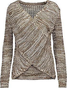 Derek Lam 10 Crosby Woman Striped Cold-shoulder Wool Sweater Gray Size M Derek Lam Free Shipping Footaction Nicekicks Cheap Online Find Great 2018 Unisex Clearance Original Rip6m