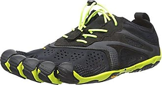 Vibram FiveFingers V-Run, Sneakers Basses Homme,Noir (Yellow), 40 EU