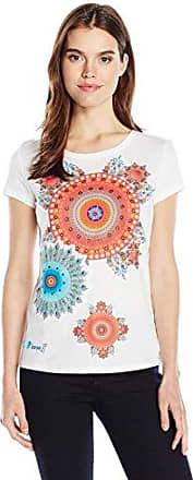 Desigual TS_Daphne, Camiseta para Mujer, Blanco (Coton 1015), Small