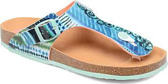 Desigual Shoes_Bio 3, Damen Zehentrenner, Türkis (5024 Turquesa Palo), 38 EU (5 UK)