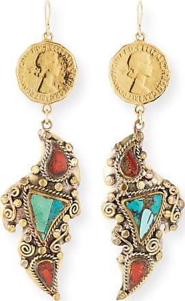 Devon Leigh Coin Dangle Earrings gbhTH2UOB