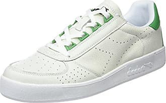Mens B.Elite L Perf Gymnastics Shoes, White Emerald Green Diadora
