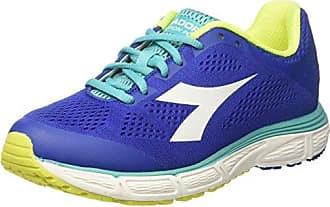Kuruka W, Zapatos para Correr para Mujer, Azul (Bl Oltremare/Giallo Fluo DD/Nr), 38 EU Diadora