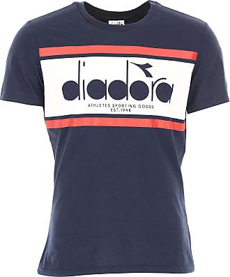 T-shirt Homme Pas cher en Soldes, Bleu foncé, Coton, 2017, SDiadora