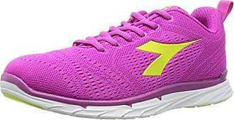 Nj-303-2 W - Zapatillas de Running de Material Sintético para Mujer Varios Colores Multicolore (C3772 Bianco/Rosa Fluo) 38 1/2 Diadora DhSYU