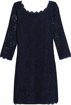 Diane Von Furstenberg Woman Scalloped Corded Lace Dress Midnight Blue Size 14 Diane Von F 5ye1hTT