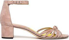 Diane Von Furstenberg Woman Knotted Leather And Suede Sandals Antique Rose Size 8.5 Diane Von F CV7Aqu