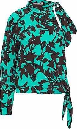 Diane Von Furstenberg Woman Printed Silk Crepe De Chine Top Blue Size XS Diane Von Fürstenberg Buy Cheap View Cheap Buy 9L1YEMU