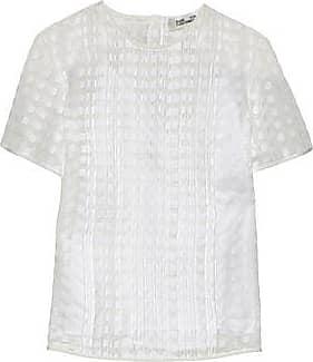 Extremely Sale Online Diane Von Furstenberg Woman Pleated Fil Coupé Blouse White Size 10 Diane Von Fürstenberg Comfortable Cheap Price From China dXGfxlhGQZ