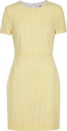 Diane Von Furstenberg Woman Striped Seersucker Mini Dress Yellow Size 4 Diane Von F noq7sW