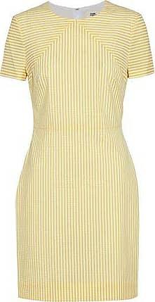 Diane Von Furstenberg Woman Striped Seersucker Mini Dress Yellow Size 4 Diane Von F XI3ftRu