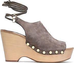 Diane Von Furstenberg Woman Farah Suede Slingback Sandals Black Size 8.5 Diane Von F v4pHvxFNws