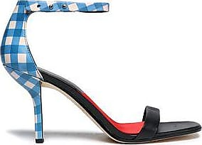 Diane Von Furstenberg Woman Ferrara Printed Leather Sandals Blue Size 9 Diane Von F T2Ka3Im