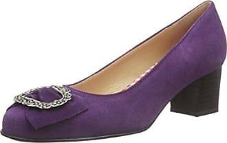 Bergheimer TrachtenschuheLuise - Zapatos de Tacón Mujer, Color Azul, Talla 42 UE