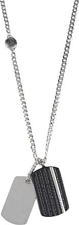 Diesel Necklaces On Sale, Stopp, Black, Zamack, 2017, One Size