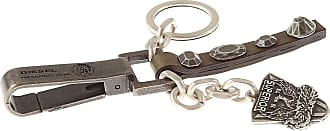 Diesel Key Chain for Men, Key Ring On Sale in Outlet, Dark Ebony, Calf Leather, 2017, one size