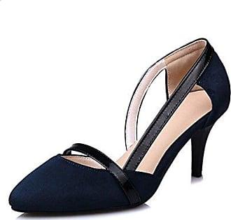 Damenschuhe Fleece Frühling Sommer Komfort Heels Stiletto Heel Schuhe Hohl-Out für Kleid Burgund Dunkelblau Schwarz, Schwarz, US 9/EU 40/UK7/CN41 Dolce & Gabbana
