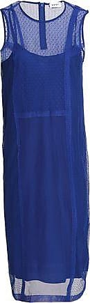 Dkny Woman Cotton-blend Point Desprit, Tulle And Lace Dress Blue Size S DKNY