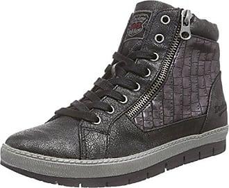 Dockers by Gerli 35ne215-686155, Sneakers Hautes Femme - Noir (Schwarz/Silber 155), 40 EU