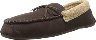 Dockers Men's Paul Microterry Clog Scuff Slipper, Brown, XL/12 M US