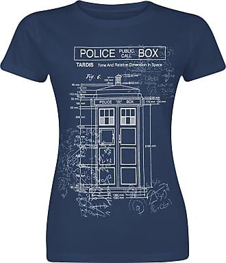 Doctor Who Bad Wolf Camiseta Mujer Azul jaspe t89Pe