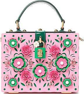 Dolce & Gabbana Woman Dolce Spiked Glittered Acrylic Box Clutch Charcoal Size Dolce & Gabbana XVBD9TM