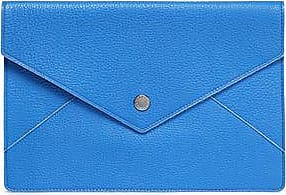 Dolce & Gabbana Woman Textured-leather Clutch Bright Blue Size Dolce & Gabbana X2xEnK