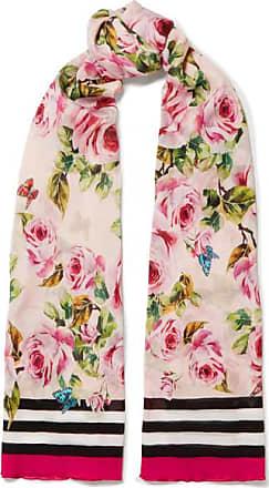 Scarf for Women On Sale, 136 X 200 Cm, Rose, Silk, 2017, Universal Size Dolce & Gabbana