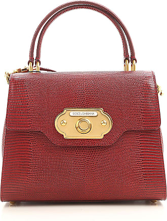 Dolce & Gabbana Top Handle Handbag On Sale, Ruby Red, Leather, 2017, one size