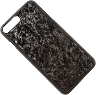 Dolce & Gabbana Cas Iphone En Vente, Iphone 8 Plus La Couverture, Noir, Cuir, 2017, Taille