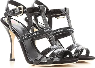 Sandals for Women On Sale, Black, Suede leather, 2017, 2.5 3 3.5 4 5.5 6 Dolce & Gabbana