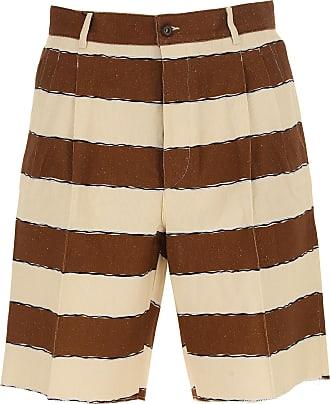 Shorts for Men On Sale in Outlet, Brown, linen, 2017, 30 Dolce & Gabbana
