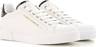 Sneaker für Damen, Tennisschuh, Turnschuh Günstig im Sale, Weiss, Leder, 2017, 36.5 38 Dolce & Gabbana
