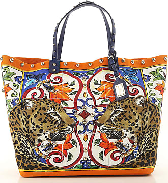 Dolce & Gabbana Tote Bag On Sale, Leopard, Coated Canvas, 2017, one size