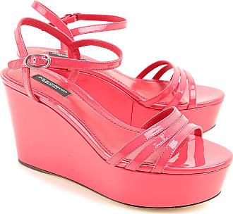 Sandales Pour Les Femmes En Vente, Rose, Cuir, 2017, 7,5 (eu 37,5) Dolce & Gabbana
