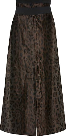 Leopard Deluxe High-Rise Cotton-Blend Midi Skirt Dorothee Schumacher Explore Free Shipping Outlet Locations 5dmp6k