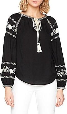 Dorothy Perkins Embroidered Boho, Blusa para Mujer, Negro, 48