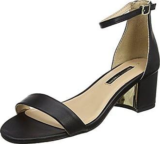 Dorothy Perkins Senorita, Zapatos de Tacón con Punta Abierta para Mujer, Negro (Black 130), 40 EU