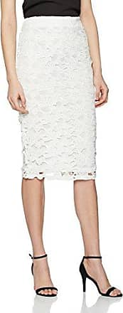Lace Contrast Pencil, Jupe Femme, Blanc (White 190), 46Dorothy Perkins