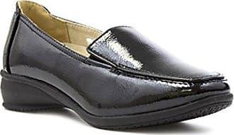 Dr Keller Schwarzer Lederner Müßiggänger-Schuh der Frauen - Größe 6 UK/39.5 EU - Schwarz Yxplz9P